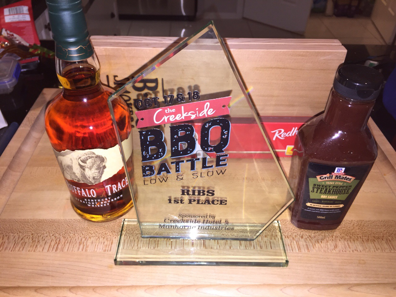 1st place Ribs Creekside 5th Overall 2015, Dave and Karen, 2nd Competition